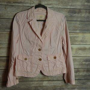 J. Crew Twill Chino Pink Blazer Size L